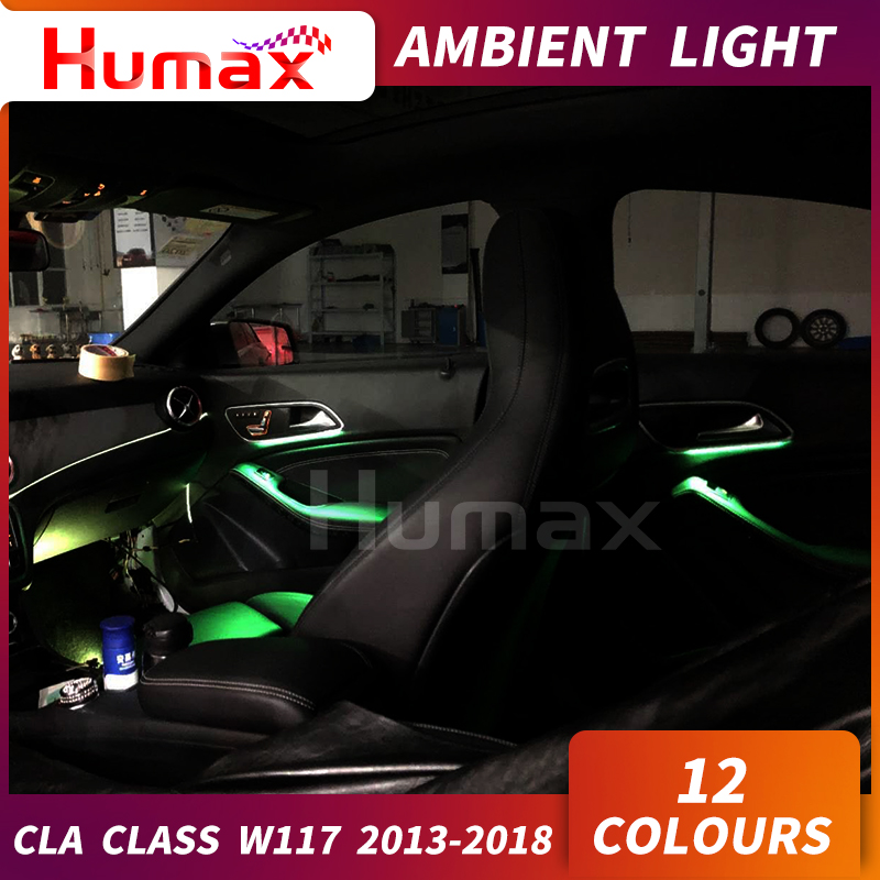 For Mercedes CLA Class W117 CLA200 CLA45 LED Door Panel Ambient Lamp Atmosphere Lighting Center Console LED Light LED Light Bar