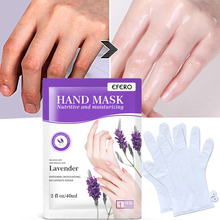 1Pair Hand Mask Remove Dead Skin Spa Moisturizing Whitening Anti Wrinkle Hand Care Lavender Natural Fragrance Hydrating Masks