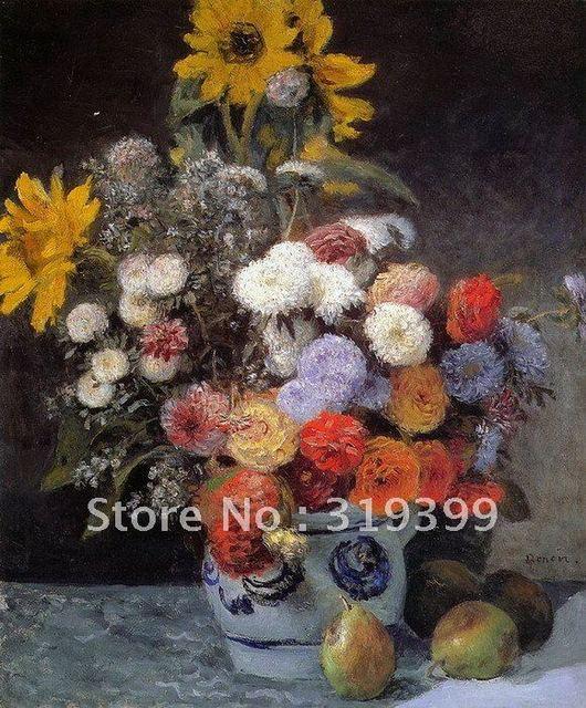 peinture l 39 huile reproduction fleurs dans un vase by. Black Bedroom Furniture Sets. Home Design Ideas