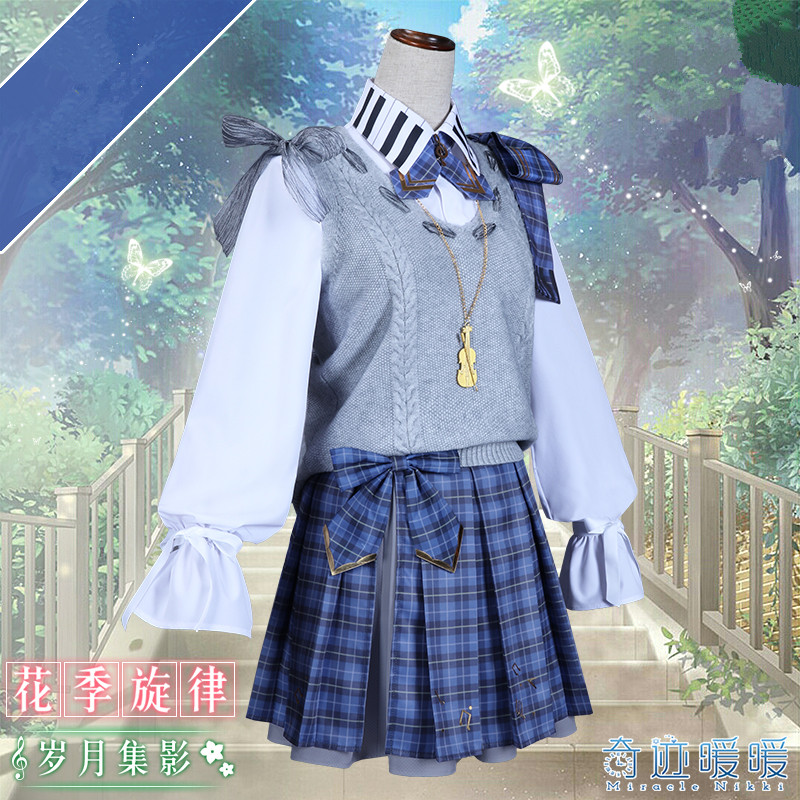 Le jeu Miracle Nikki chinois ancien Costume mélodie saisons automne hiver Halloween femmes robe