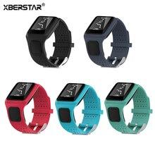 TPE Comfortable Wrist Sports Fitness Bracelet Band Strap Holder for TomTom Runner & TomTom Multi-Sport GPS Watch
