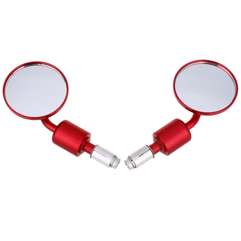 High quality 2Pcs/Pair Universal Rearview Mirrors Motorcycle Aluminum Side Back Round Rear Mirror Electrombile Convex 13-14mm