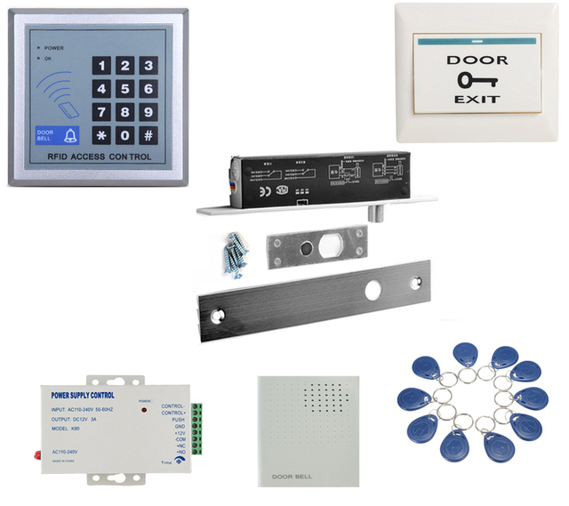 With Keypad Nonc Electric Drop Bolt Door Lock Dc 12v Electric Lock