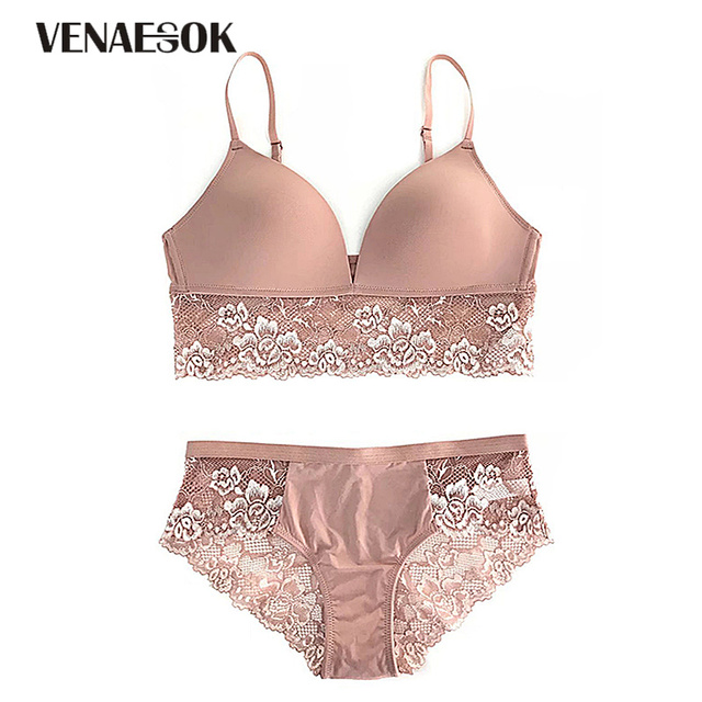 7ef5d2a85c3 Brand White Underwear Set Women Bras Push Up Brassiere Cotton Thick Lace  Embroidery Lingerie Set Black Sexy Bra and Panties Sets