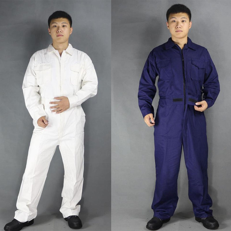 Protect Coveralls Men Long Sleeve Safety Work clothing Working clothes Male Protective Cotton Overalls Farmer Repairmen Workwear industrial vintage table lamp simple water pipes desk light cafe bar small table light contain led bulbs mesa loft art lighting
