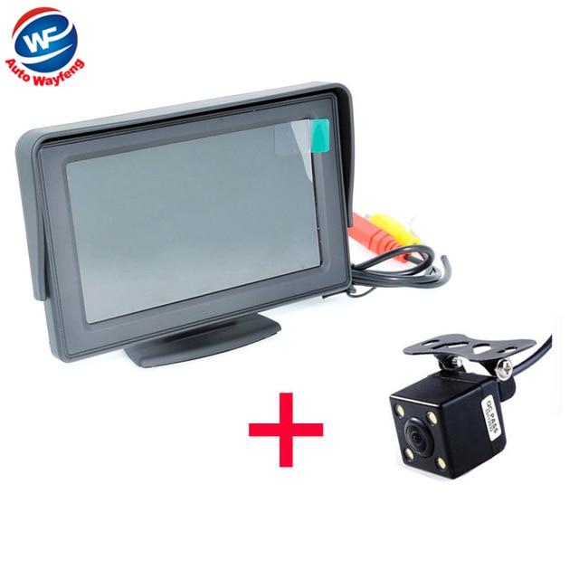 Bil HD Video Auto Parkeringsmonitor, LED Natt Vision Växla CCD Car - Bilelektronik
