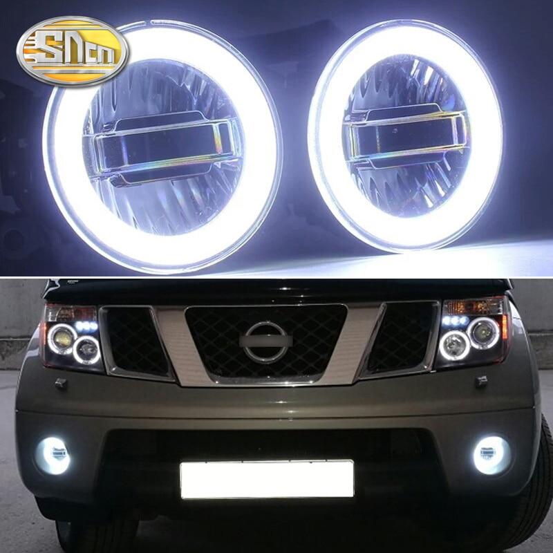 SNCN 3-EN-1 Fonctions Auto LED Ange Yeux Éclairage Diurne De Voiture Projecteur Brouillard Lampe Pour Nissan pathfinder 2005-2014 2015