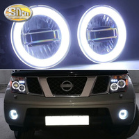 SNCN 3 IN 1 Functions Auto LED Angel Eyes Daytime Running Light Car Projector Fog Lamp For Nissan Pathfinder R51 2005 2015
