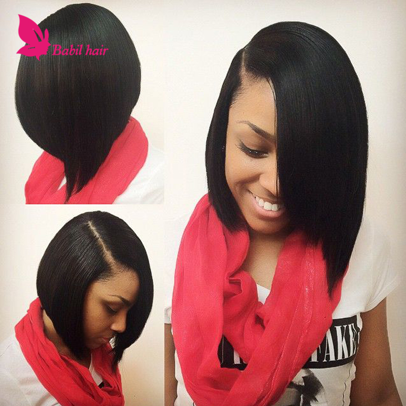 Newside Bang Lace Front Wig Short Bob Wigs For Black Women Human