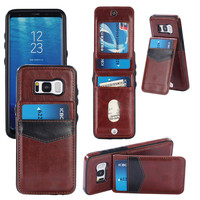 Wallet Style Up And Down Open Back Cover Leather TPU Phone Case For Samsung Galaxy S6