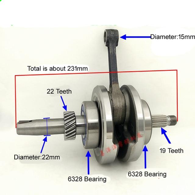 moteur de moto vilebrequin bielle assembl e pour cg125 zj125 dans vilebrequins de automobiles et. Black Bedroom Furniture Sets. Home Design Ideas