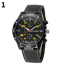 Popular Outdoor Design Men's Fashion Silicone Band Stainless Steel Analog Sport Quartz Wrist Watch NO181 5V6C Store 51 signbord outdoor outlet sign stainless steel backlit ad light signboard billboard store bar hotel customized design to drawing