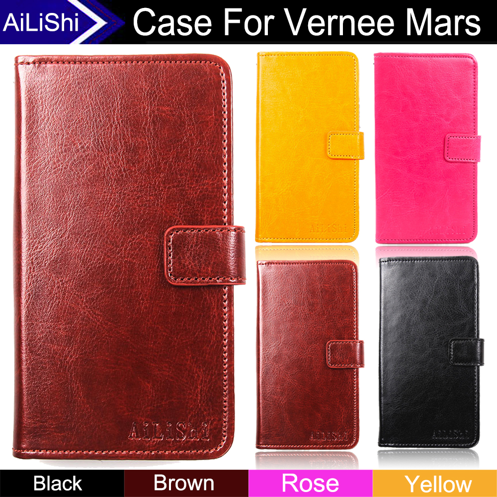 AiLiShi Factory Direct! Case For Vernee Mars Fashion Flip PU Leather Case Cover Phone Bag Wallet Card Slot+Tracking Hot In Stock