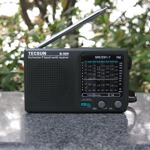 Image 5 - TECSUN R 909 AM/FM/SW רדיו 1 7 9 להקות העולם בנד מקלט נייד רדיו FM: 87.0 108MHz/ŸMW: 525 1610 kHz רטרו כיס רדיו