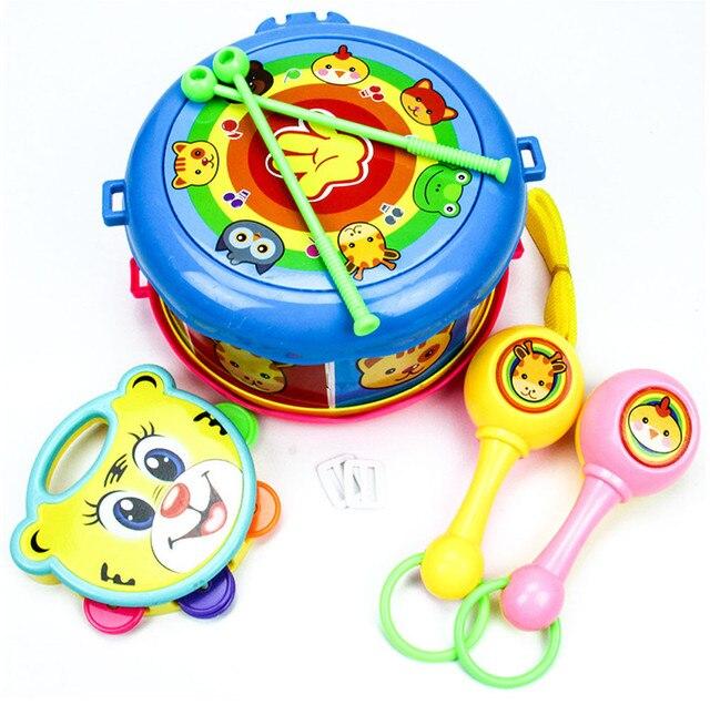 Baby toys 2017 Барабана Образования Музыкальный инструмент игрушки день рождения подарки детские toys 0-12 месяцев speelgoed детские brinquedo 2-20 #2