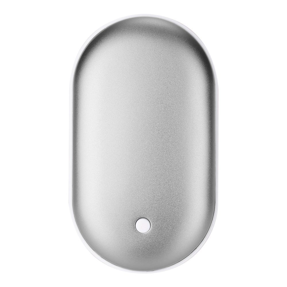 5200 мА/ч 5 в милый USB Перезаряжаемый СВЕТОДИОДНЫЙ Электрический подогреватель для рук и путешествий удобный долговечный Мини карманный нагреватель продукт для домашнего потепления - Цвет: silver