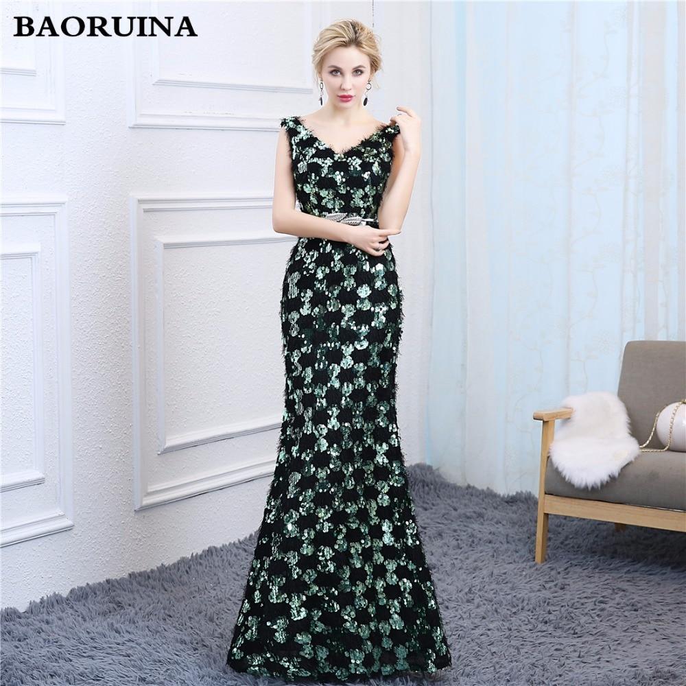 Green Royal Gold Black Lace Long Prom Dresses 2018