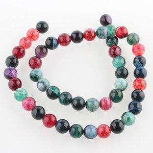 """8 мм круглые бусины из натурального камня, окрашенное отверстие: 1 мм; около 49 шт/прядь, 14,96"""""""
