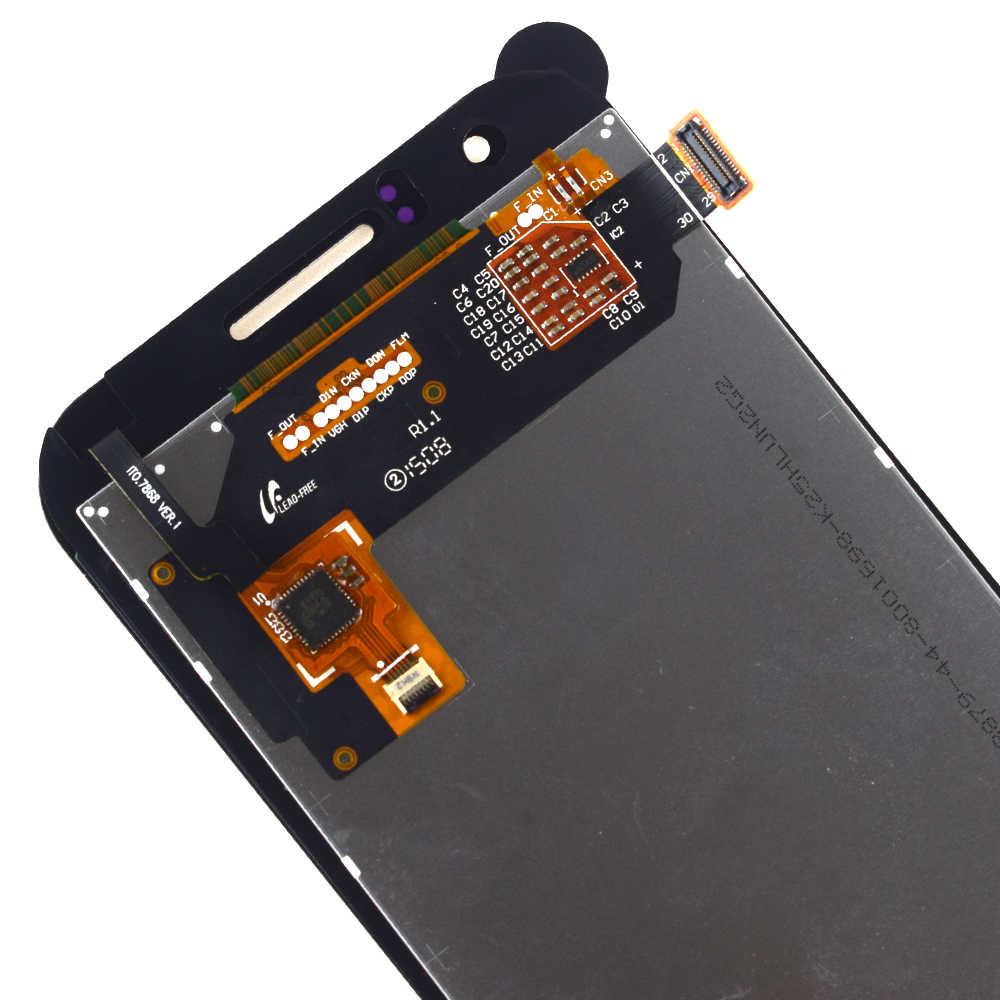 لسامسونج غالاكسي J1 J100F J100H J100 SM-J100F محول الأرقام بشاشة تعمل بلمس سينور لوحة زجاجية + جهاز مراقبة بشاشة إل سي دي وحدة الجمعية