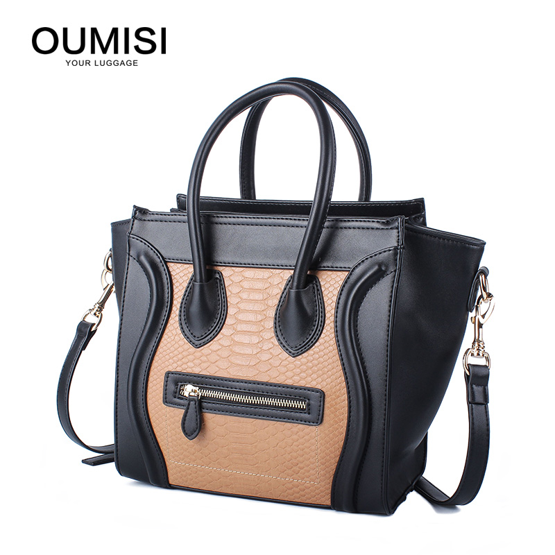 Women Soft Pu Leather Handbag Female Shoulder Bag Messenger Bag Larger Size Winter Women Bag .Oumisi the new 2015 female bag pu leather color matching envelope bag shoulder inclined a001 messenger bag bag free shipping to women