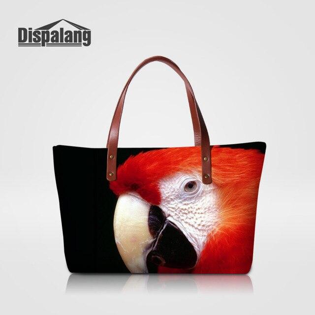 Dispalang Women Handbags Parrot Animal Print Shoulder Bag Casual Tote Female Messenger High Quality