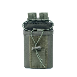 Image 4 - 1000D нейлоновый Открытый тактический Чехол, спортивная подвеска, военный Молл, радио, держатель рации, сумка для охоты, журнальные карманы