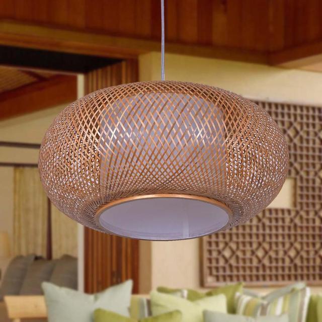 Bambus Laternen Studie Anhanger Lampen Bambus Chinesischen Stil