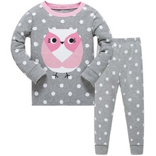 hot deal buy 2019 new cartoon girls pajama sets spring cartoon cotton clothing set for girls long sleeve shirt + pants 2 pieces kids clothing