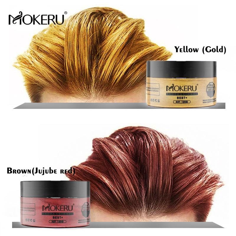 Us 4 1 41 Off Mokeru 1pcs Natural Unsiex Diy Hair Color Wax Mud Dye Cream Temporary Hair Clay Wax Dye Paint Clay For Hair Styling Molding Gel In