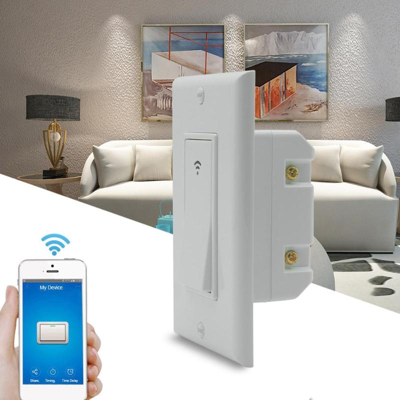 Smart Light Switch WIFI LED Light Switch APP Remote Control Works for Alexa Google Home Luminous for Wall Lamp Switch