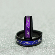 Couples Black Titanium Mood Rings
