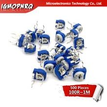 500pcs RM065 RM 065 Trimpot Trimmer Potentiometer 100 200 500 ohm 1K 2K 5K 10K 20K 50K 100K 200K 500K 1M ohm 100R 200R 500R
