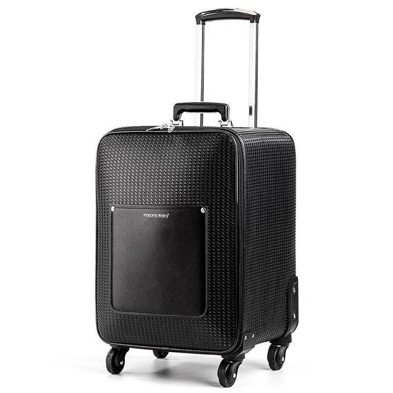 Новое поступление! высокое качество искусственная кожа черный цвет тележки для багажа на универсальные диски, обувь для мужчин и женщин ком...