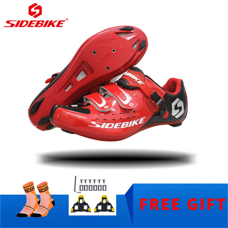 SIDEBIKE professional Cycling Bike Shoes Self-locking breathable outdoor Athletic bicycle shoes comfortable road Bike sneakersSIDEBIKE professional Cycling Bike Shoes Self-locking breathable outdoor Athletic bicycle shoes comfortable road Bike sneakers