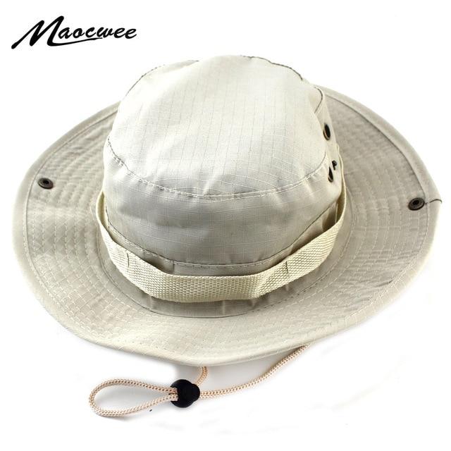 Military Bucket Hats Fishing Fisherman Hunting Men Adult Safari Protection  Hunter Mountain Cap With Wide Brim Sun Climbing Cap fcfbd6d6690