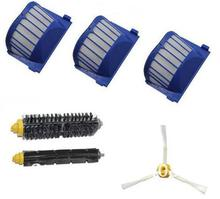 Band new 3 Aero Vac Filter + Brush kit for iRobot Roomba 600 Series 620 630 650 660 etc vacuum cleaner accessories Replacement
