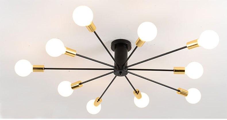 Deckenleuchten vintage lampen für wohnzimmer iluminacion