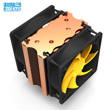 Pccooler cpu cooler double 9cm quiet fan 2 copper heatpipes cpu cooling radiator fan for AMD AM2/AM3 Intel 775 1150 1151 115x