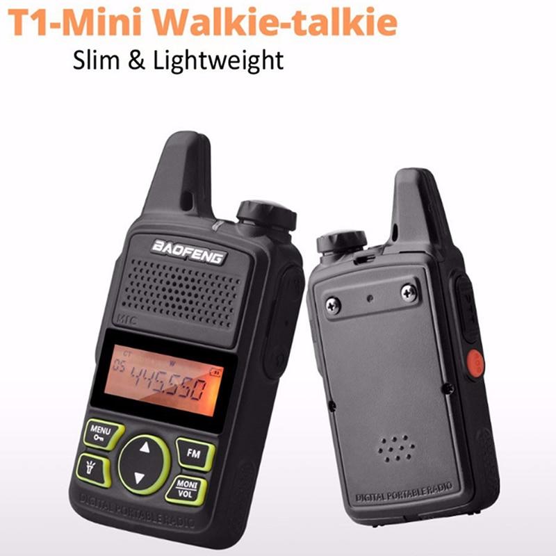BAOFENG BF-T1 Talkie Walkie Enfants Walk Talk MINI Two Way Radio UHF 400-470 mhz 20CH Portable Jambon FM CB Radio Émetteur-Récepteur De Poche