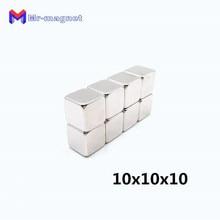 100pcs 10mm x 10mm x 10mm Strong Block permanent Slice Magnets Rare Earth Neodymium 10*10*10mm High Quality neodymium Magnets