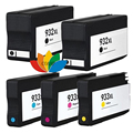 5 Compatible HP932XL 933XL Ink Cartridges for HP OfficeJet hp6100 hp6600 hp6700 hp7110 hp7610 hp7510 hp7512 Printer