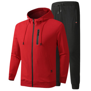 Image 3 - גברים של אימונית אביב סתיו כותנה ספורט חליפות זכר מקרית סטי סווטשירט + מכנסיים בגדים באיכות אסיה גודל L 6XL