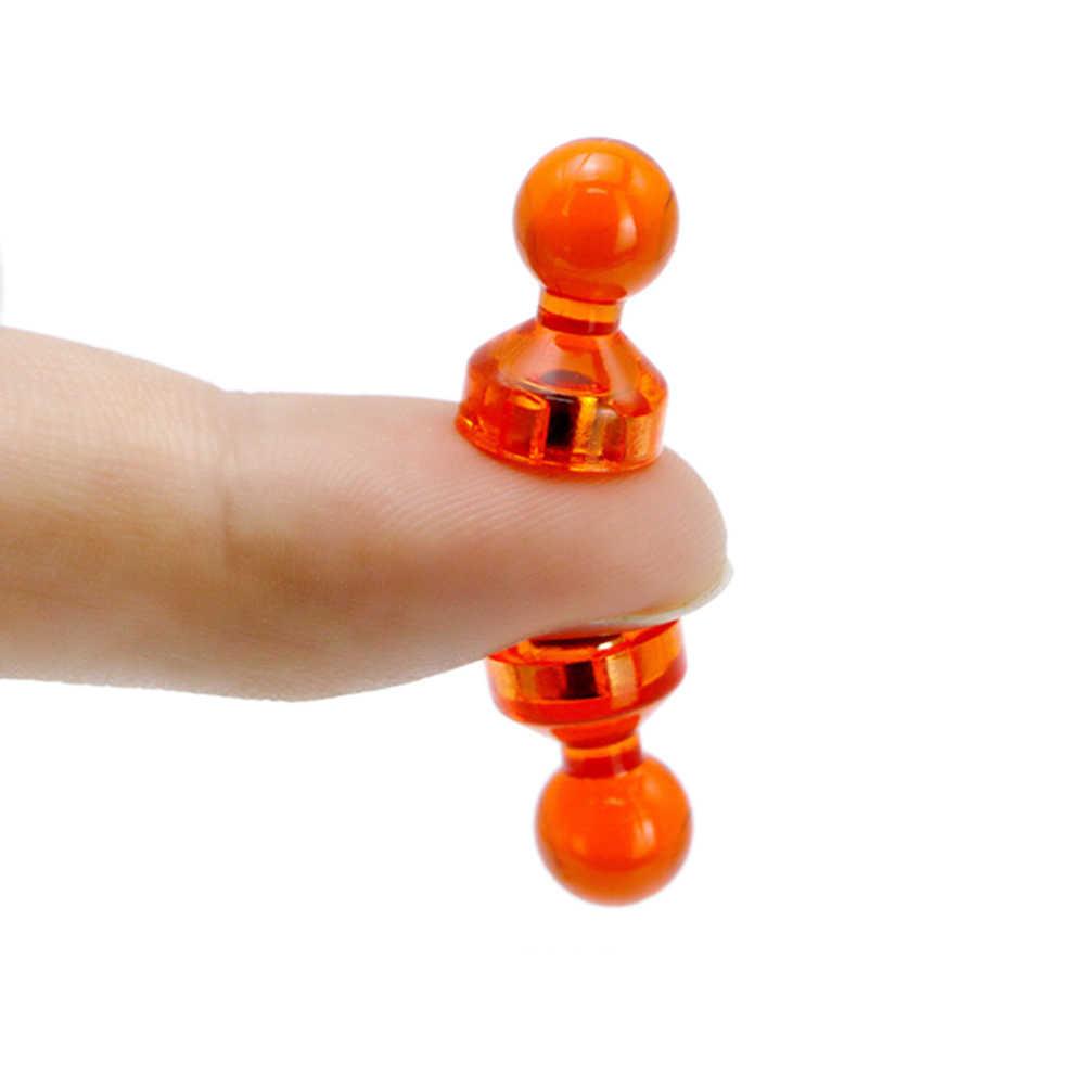 10 PCS/1 PCS Strong แม่เหล็ก Thumbtacks Neodymium Noticeboard Skittle Pin แม่เหล็ก DIY ตู้เย็นไวท์บอร์ดสีสุ่ม