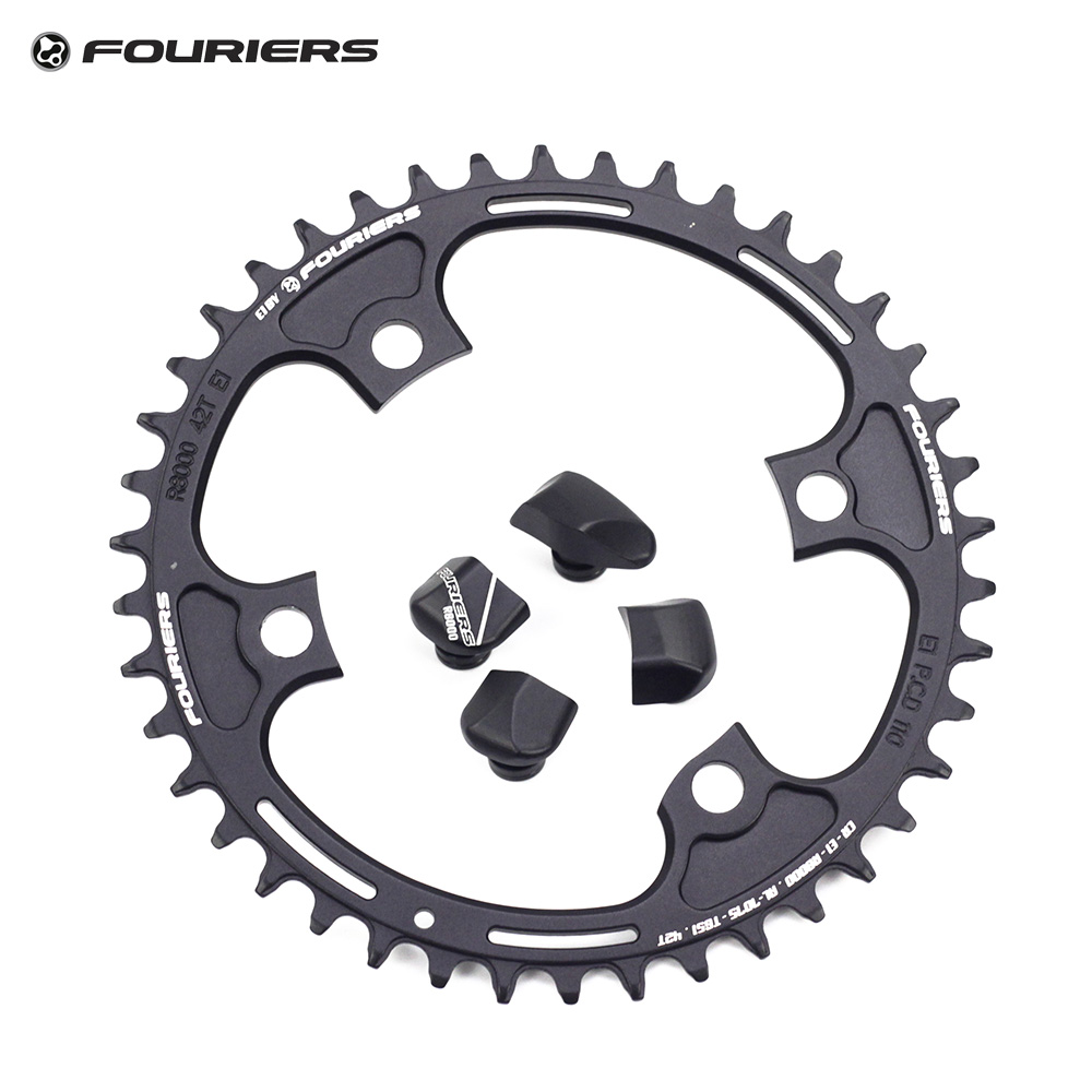 Fouriers Bike Single Chainring BCD 110 42T 46t Narrow Wide Teeth Fit Ultegra R8000 11 speed