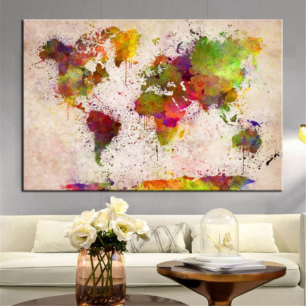world map canvas painting (3)