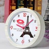 12*12cm digital table clock alarm clock vintage watches reloj klok home decor electronic desk clock automobile clocks plastic