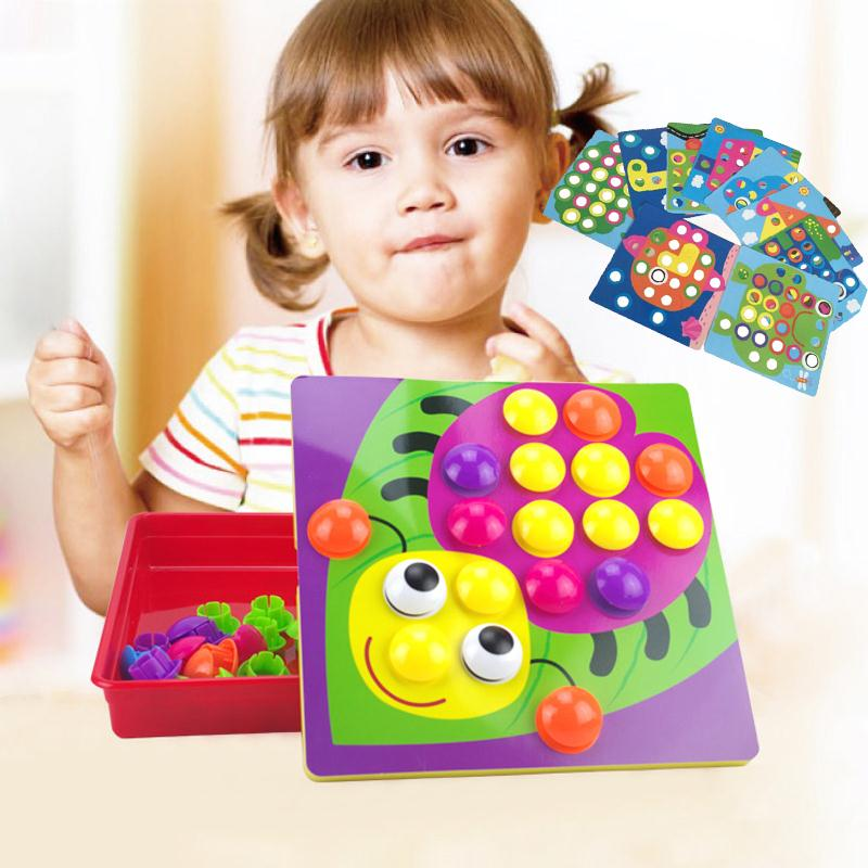 3D Nail Mosaic Puzzles Toys For Children Composite Picture ...