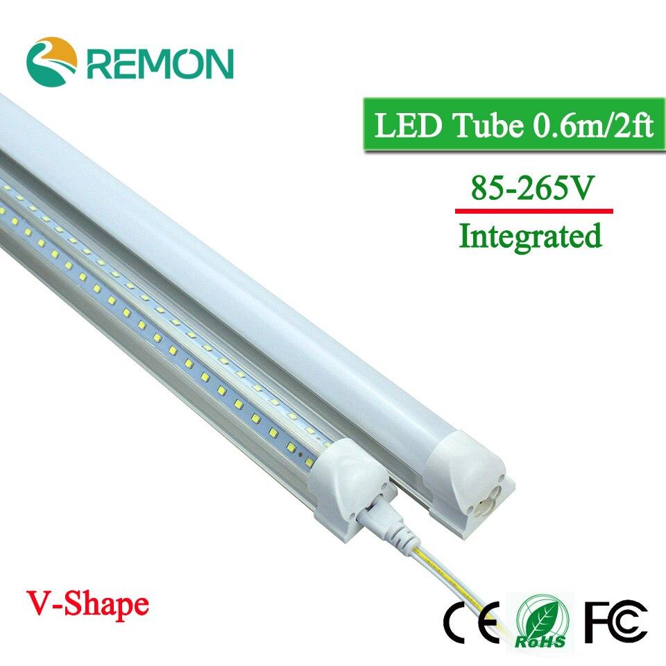 где купить  LED Bulbs Tubes T8 600mm 20W V-Shape 2 Feet Led Integrated Tube Light 2FT AC85-265V 96LED SMD2835 270 Degree Super Bright 2000lm  дешево