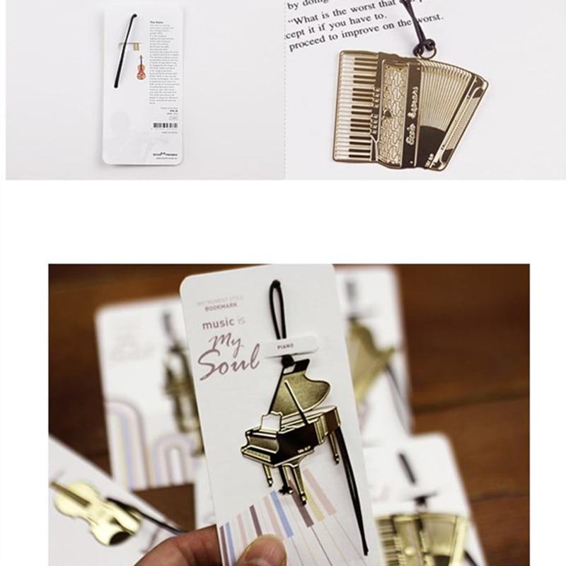 Купить с кэшбэком 48 pcs/Lot Western instruments bookmark 18K gold-plated metal bookmarks Vintage  office accessories School supplies FC832