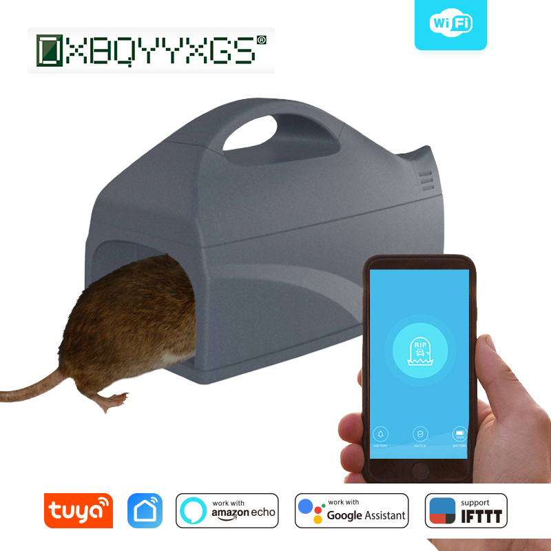 2019 WiFi Mousetrap Efficient Electric Shock Mice Killer Intelligent electronic mouse trap Pest control Portable Battery powered